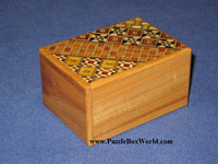 3 Sun 4 Step Natural Wood/Koyosegi Japanese Puzzle Box