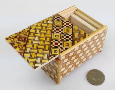 3 Sun 4 Step Yosegi Kuzushi Japanese Puzzle Box