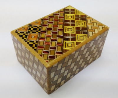 3 Sun 7 Step Yosegi Kuzushi Japanese Puzzle Box