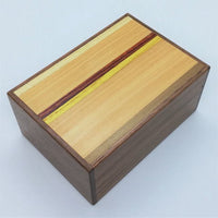 4 Sun 12 Step Limited Edition Natural Wood Japanese Puzzle Box C