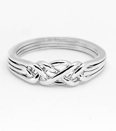 4 Band Light Sterling Silver Puzzle Ring