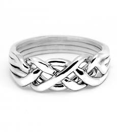 4 Band Heavy Sterling Silver Puzzle Ring
