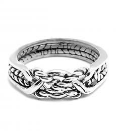 4 Band Twist Sterling Silver Puzzle Ring