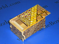 4 Sun 14 Step Yosegi Japanese Puzzle Box