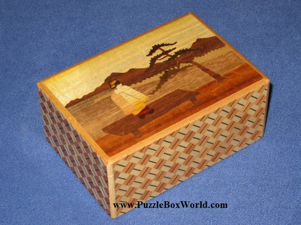 4 Sun 7 Step Maiko-Girl  Zougan Geisha Japanese Puzzle Box 2