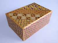 4 Sun 7 Step Yosegi Tagai Japanese Puzzle Box