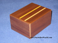 5 + 2 Step Natural Wood Maze Secret Japanese Puzzle Box