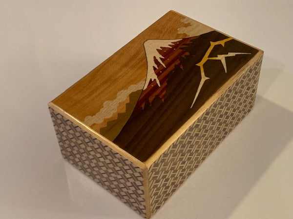 5 Sun 10 Step Kaminari Fuji  Japanese Puzzle Box  By Mr. Yamanaka