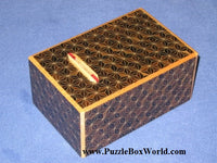 5 Sun 10 Step Kuroasa Japanese Puzzle Box Coin Bank