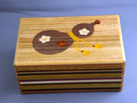 5 Sun 12 + 1 Step Bird Fuji Japanese Secret Puzzle Box