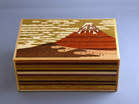 5 Sun 12 + 1 Step Aka Fuji Japanese Secret Puzzle Box