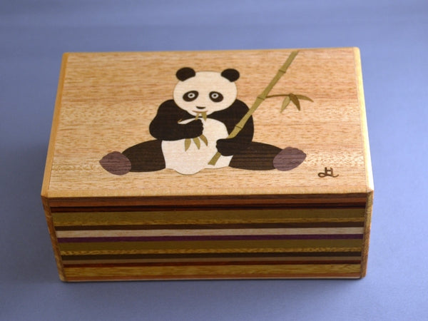 5 Sun 12 + 1 Step Panda Japanese Secret Puzzle Box