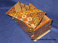 5 Sun 21 +1 Step Yosegi  Japanese Puzzle Box