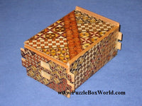 5 Sun 36 Step Yosegi Japanese Puzzle Box