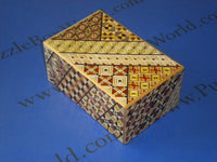 5 Sun 7 + 3 Step Yosegi Japanese Puzzle Box with SECRET DRAWER AND HIDDEN COIN !!!