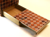 6 Sun 10+1 Step Red Ichimatsu Japanese Puzzle Box  with SECRET DRAWER!