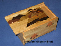6 Sun 14 Step Sansui Zougan Japanese Puzzle Box