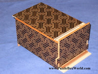 6 Sun 14 Step Double Compartment Saya Japanese Puzzle Box by Mr. Yamanaka