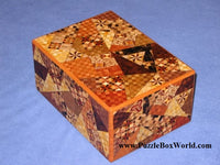 6 Sun 59 Step Ran Yosegi Japanese Puzzle Box