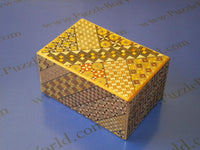 6 Sun 7 + 1 Step Yosegi Japanese Puzzle Box with Hidden Drawer!