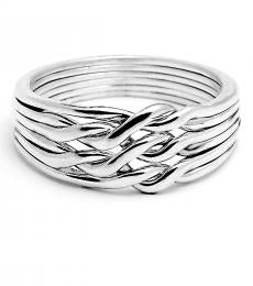 6 Band Light Chain Sterling Silver Puzzle Ring