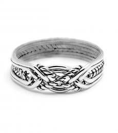 6 Band Twist Light Sterling Silver Puzzle Ring