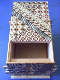 7 Sun 72 +1 Step Yosegi Japanese Puzzle Box