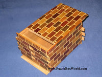 PRE-OWNED 7 Sun 72 +1 Step Ichimatsu BP Japanese Puzzle Box