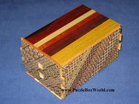 7 Sun 78 Step Natural Wood / Koyosegi Japanese Puzzle Box