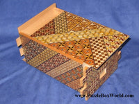 7 Sun 78 Step Yosegi Japanese Puzzle Box