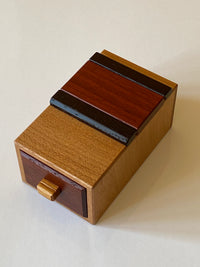 (Pre-Owned) Another Aquarius Drawer Japanese Puzzle Box by Hiroshi Iwahara