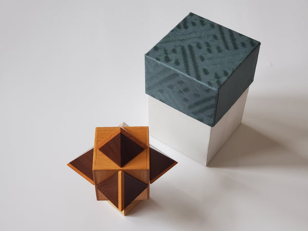 Cube & Octagon Japanese Puzzle Box