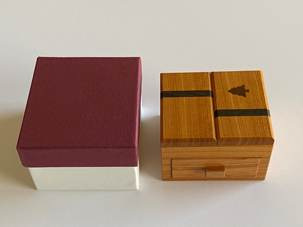 Drawer With A Tree Japanese Puzzle Box by Hiroshi Iwahara