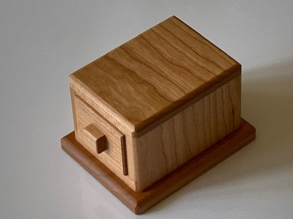 Drawer with a Lid Puzzle Box by Akio Kamei