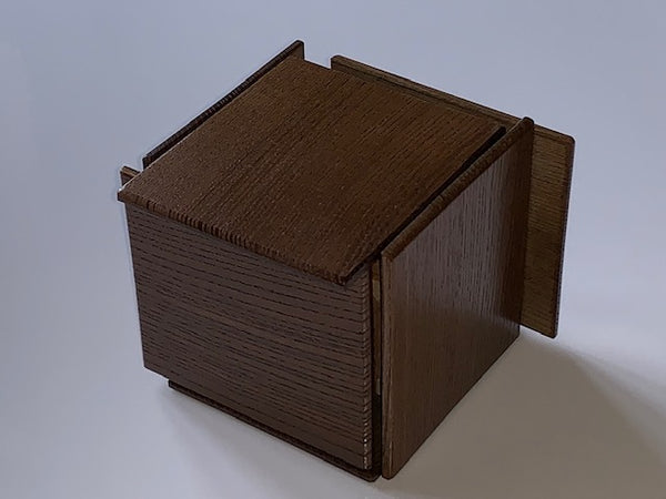 Half Finished Japanese Puzzle Box  by Hiroshi Iwahara
