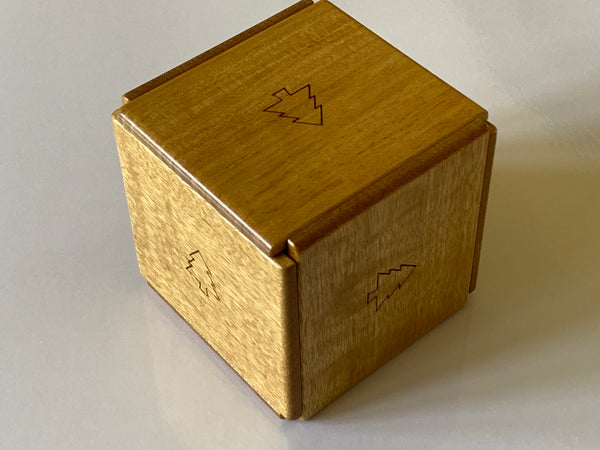 Box with 5 Trees Japanese Puzzle Box by Hiroshi Iwahara