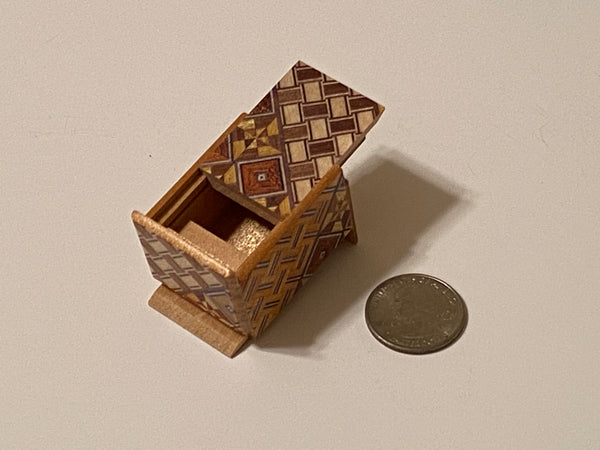 10 Step Mame Yosegi  Traditional Japanese Puzzle Box