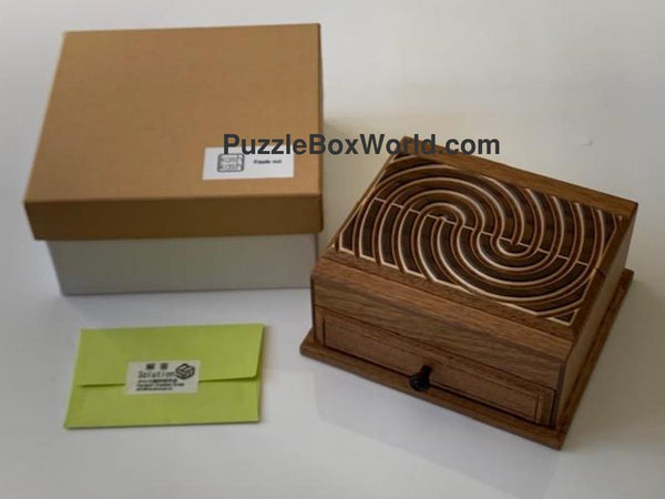 Ripple Out Japanese Puzzle Box by Osamu Kasho