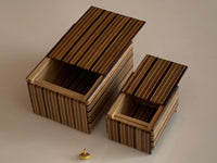 3 Sun 4 Step Nested MUKU Japanese Puzzle Box