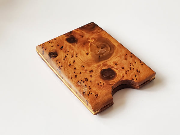 Moroccan Thuya Burl Wood Card Case