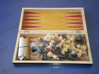Transylvanian Chess/Backgammon Wooden Set (Small Black)
