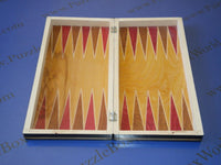 Transylvanian Chess/Backgammon Wooden Set (Small Red)