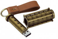 Cryptex (Antique Gold Color) USB flash drive, 16 Gb