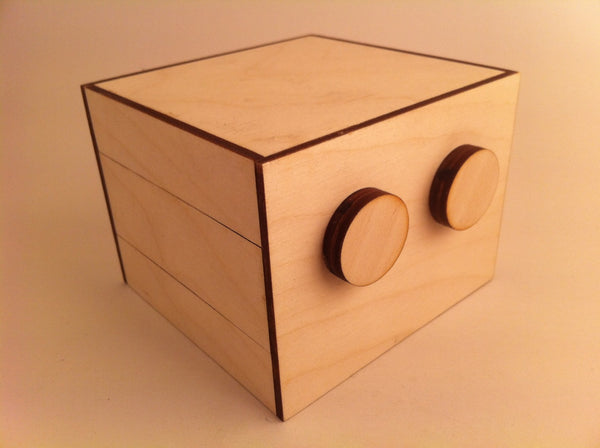 Double Two Puzzle Box (Self Assembly Kit)