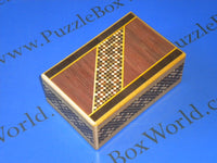 5 Sun 7 Step Traditional Secret Japanese Puzzle Box by Yoshiyuki Ninomiya - RARE!