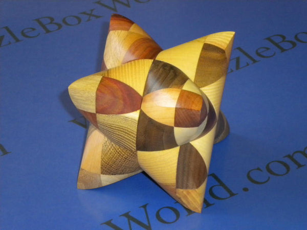 Dual Tetrahedron 3 Interlocking Puzzle VW
