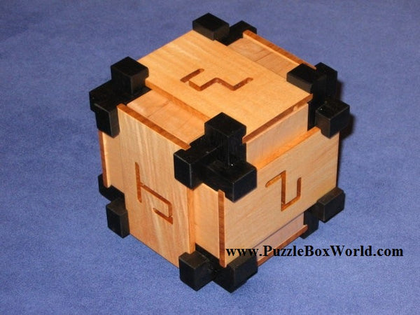Ebony Maze Burr Puzzle by Kagen Schaefer