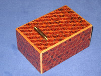 5 Sun 10 Step Akaasa Japanese Puzzle Box Coin Bank