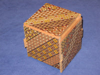 Cubic 7 Step Yosegi Japanese Puzzle Box