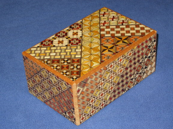 5 Sun 7 Step Yosegi  Japanese Puzzle Box